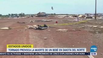 Muere un bebé en Dakota del Norte por tornado