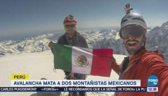 Mueren dos montañistas mexicanos en la