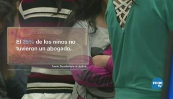 Niños migrantes, solos frente al juez