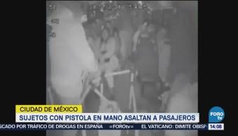 Divulgan Video Asalto Pasajeros Camión Transporte Cdmx