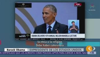 Obama pide recuperar visión de un mundo justo