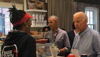 Obama y Biden almuerzan panadería que apoya veteranos