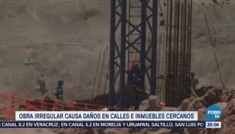 Obra irregular en Azcapotzalco