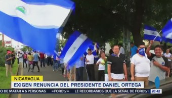 Opositores Exigen Renuncia Daniel Ortega Nicaragua