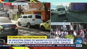 PC de Oaxaca: Sismo fue perceptible en todo el estado