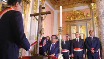 Vicente Zeballos jura como ministro de Justicia de Perú