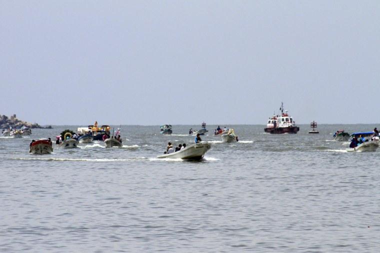 Pescadores de Veracruz celebran a la Virgen del Carmen