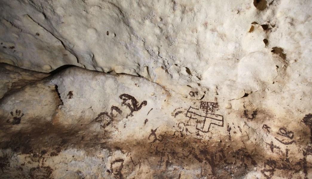 Descubren cueva con pinturas rupestres mayas en Yucatán