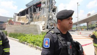 SSP-CDMX apoya a servicios de emergencia tras derrumbe