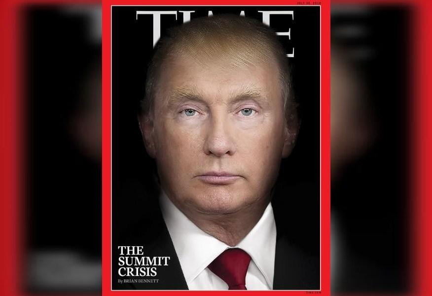 Time fusiona los rostros de Trump y Putin en portada