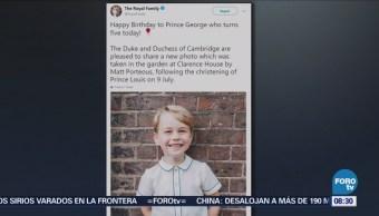 Publican nueva fotografía oficial del príncipe Jorge