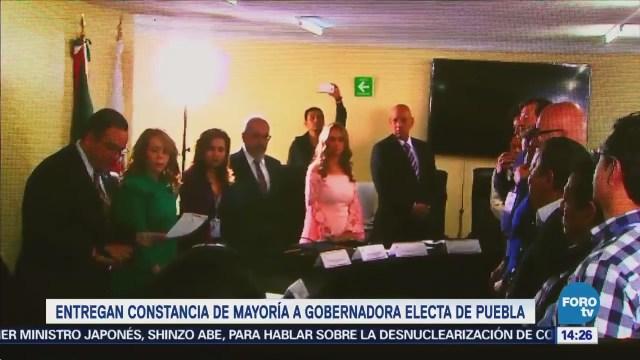 Puebla Entregan Constancia Mayoría Martha Erika Alonso