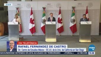 Rafael Fernández de Castro analiza visita Chrystia Freeland