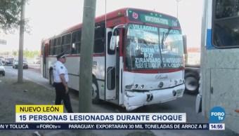 Pasajeros Resultan Heridos Choque Guadalupe Nl