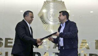 Amieva presenta Raymundo Collins secretario de SSP-CDMX