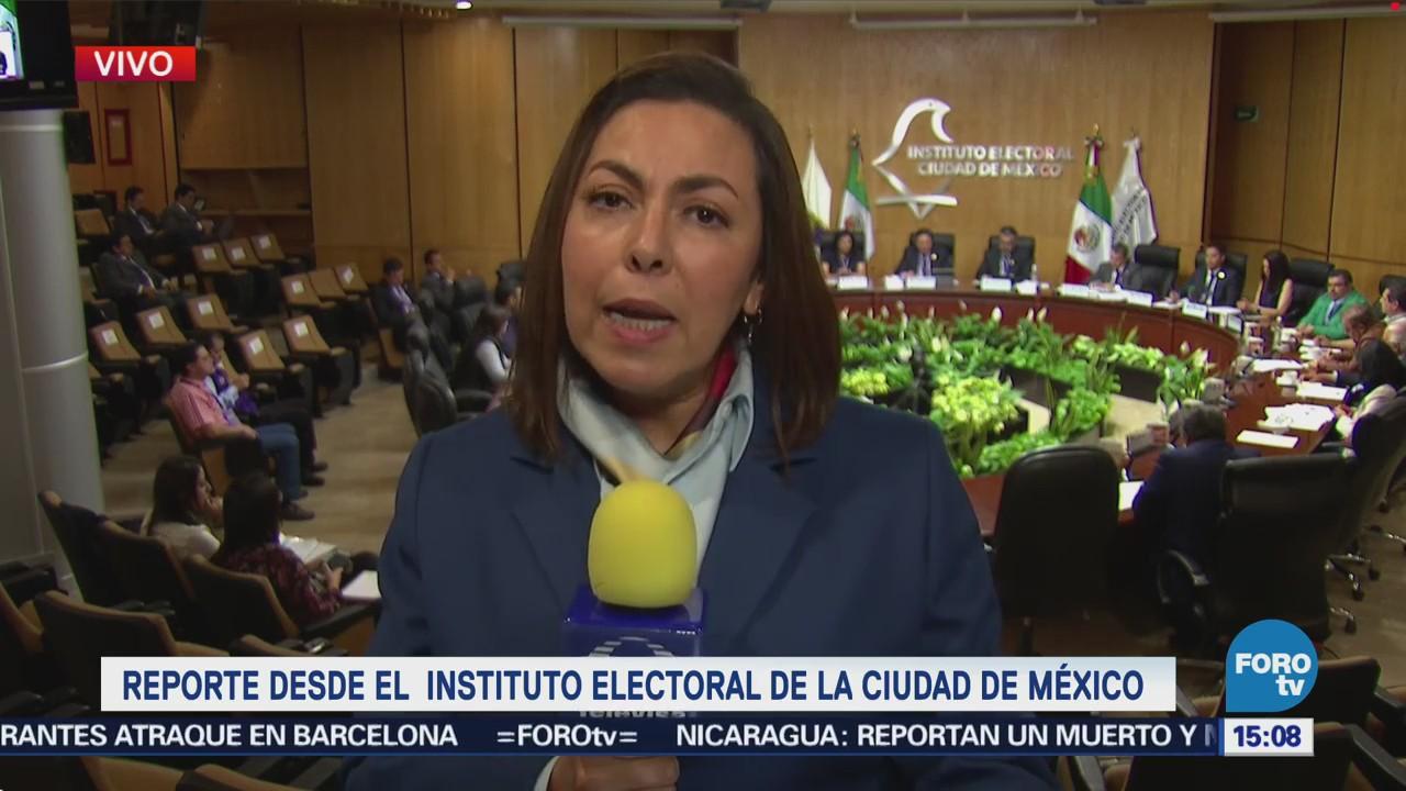 Reanuda sesión permanente del Instituto Electoral de la CDMX ...