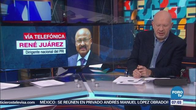 René Juárez pide unidad al PRI y no caer en oportunismos
