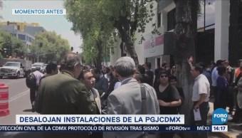 Reportan Desalojo Bunker Procuraduría Capitalina CDMX