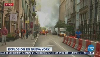 Reportan explosión en tubería de vapor en Nueva York