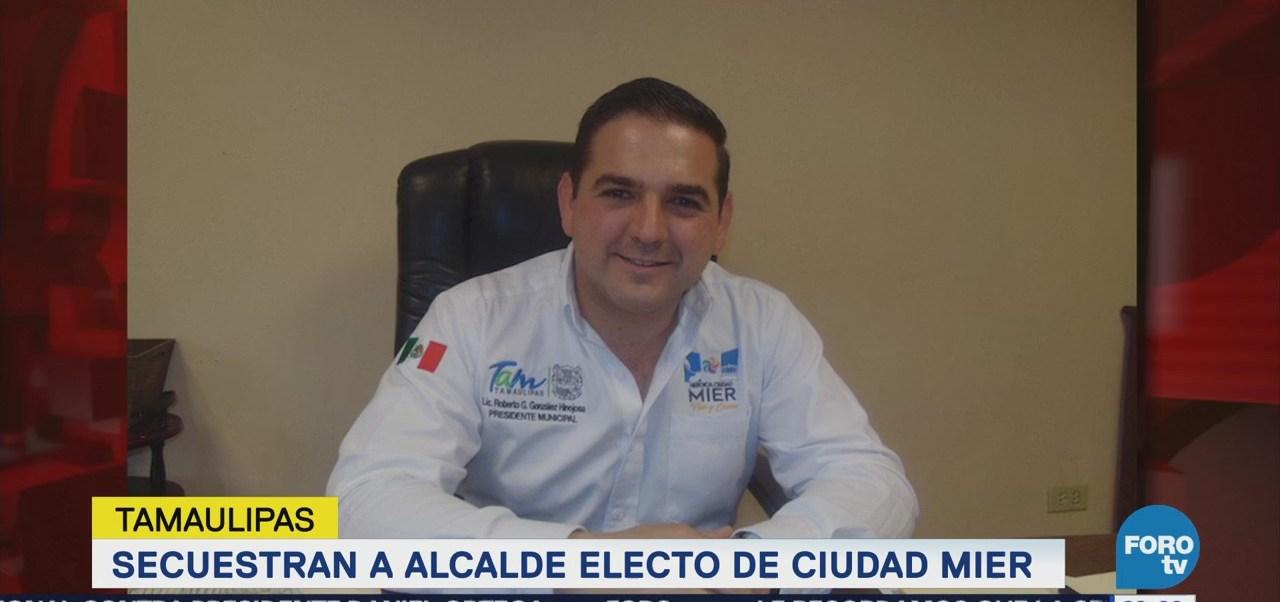 Reportan secuestro alcalde electo Ciudad Mier