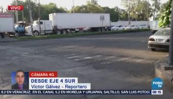 Reportan tránsito fluido en Eje 4 Sur, colonia Leyes de Reforma