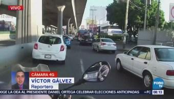 Reportan tránsito lento en Periférico Norte, rumbo a la CDMX