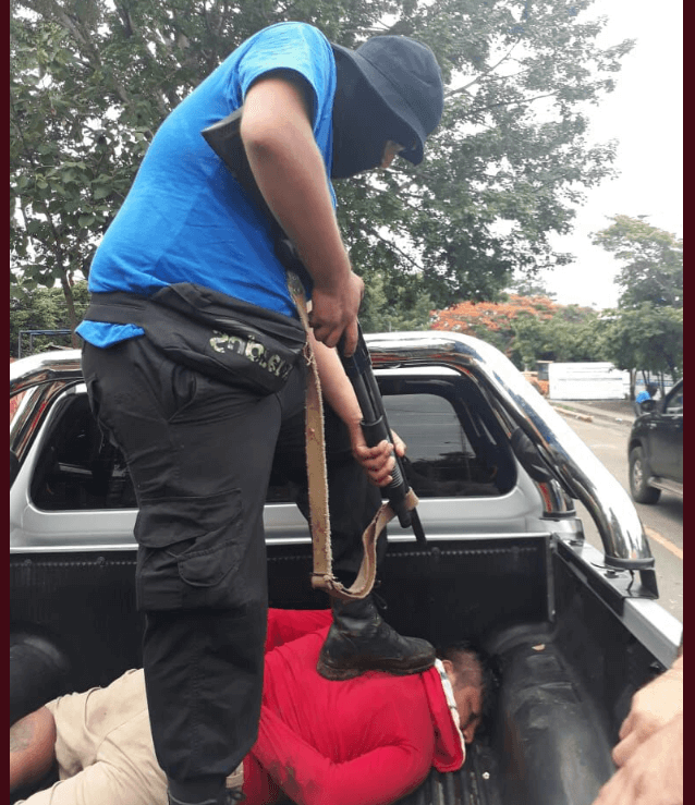 Represión en Masaya, Nicaragua.(@laprensa)