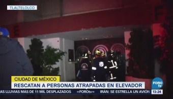 Rescatan Tlatelolco Cinco Personas Atrapadas Elevador