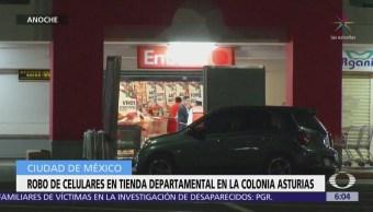 Roban celulares en tienda departamental de la colonia Asturias, CDMX