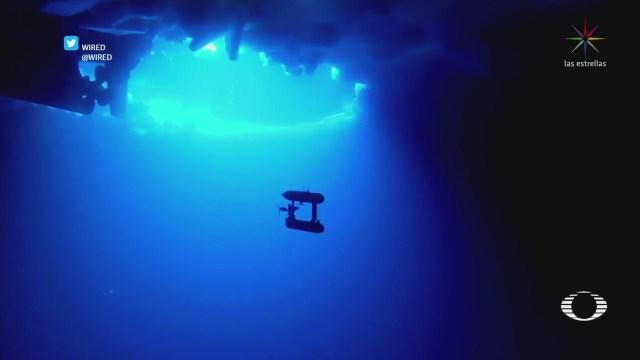 Robot buzo reporta cómo afecta el cambio climático