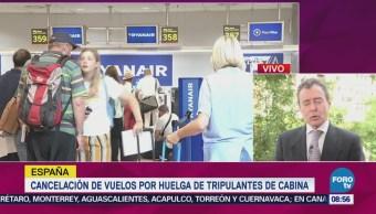 Cancelación Vuelos Huelga Tripulantes Cabina España