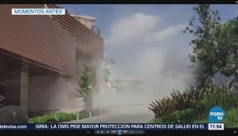 Se derrumba centro comercial en San Jerónimo, CDMX