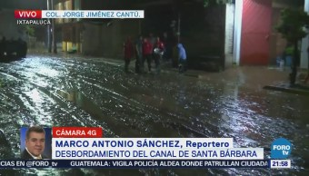 Desborda Canal Santa Bárbara Lluvias Ixtapaluca Edomex