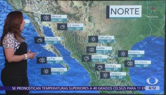 Se mantienen altas temperaturas en el noroeste y norte del país