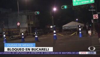 Se registra bloqueo en Bucareli, CDMX
