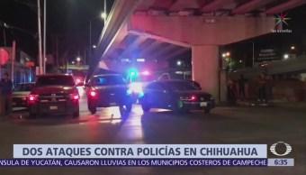 Se registran dos ataques contra policías en Chihuahua