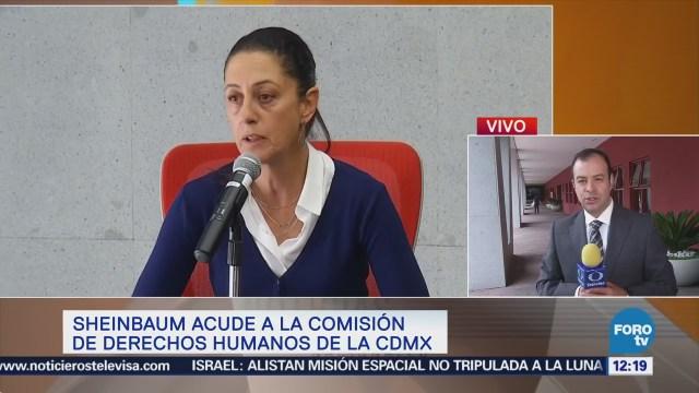 Sheinbaum acuerda agenda sobre derechos humanos con CDHCDMX