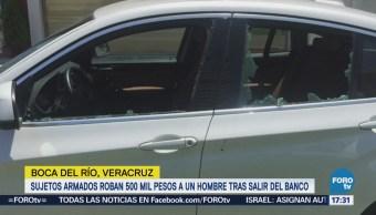 Sujetos Asaltan Hieren Cuentahabiente Veracruz Robos