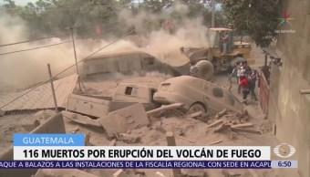 Suman 116 los muertos por erupción del Volcán de Fuego