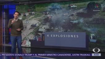 Suman 24 muertos por explosiones de polvorines