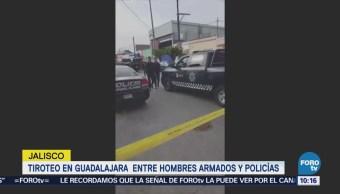 Tiroteo entre hombres armados y policías de Guadalajara