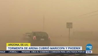Tormenta de arena cubre Maricopa y Phoenix