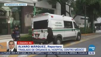 Trasladan Órganos Centro Médico Donación