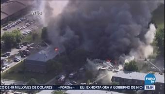 Tres Lesionados Incendio Complejo Apartamentos Chicago