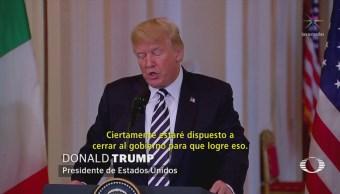 Trump, dispuesto cierre de Gobierno por
