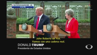 Trump Rechaza CNN Fake News Conferencia