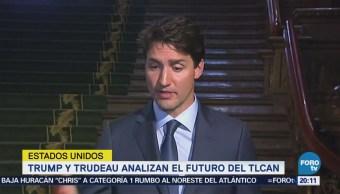 Trump y Trudeau analizan futuro del TLCAN