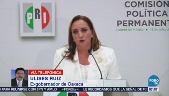 Ulises Ruiz pide renovación de dirigencia del PRI