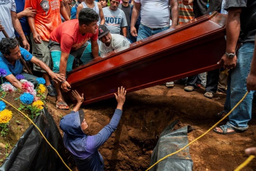 Víctimas de violencia en Nicaragua. (AP)