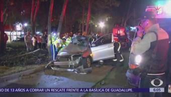 Volcadura en Prados de Coyoacán deja cuatro lesionados